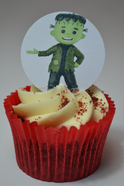 Edible cake toppers decoration - Frankenstein